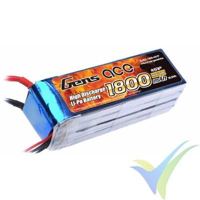 Batería LiPo Gens ace 1800mAh (26.64Wh) 4S1P 40C 200.5g Deans