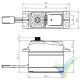 Servo digital Savox SH1290MG, 56.4g, 5Kg.cm, 0.05s/60º, 4.8V-6V
