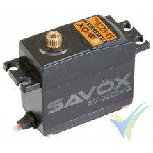 Servo digital Savox SV-0220MG HV, 59g, 8Kg.cm, 0.13s/60º, 6V-7.4V