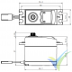 Servo digital Savox SV0220MG, 59g, 8Kg.cm, 0.13s/60º, 6V-7.4V