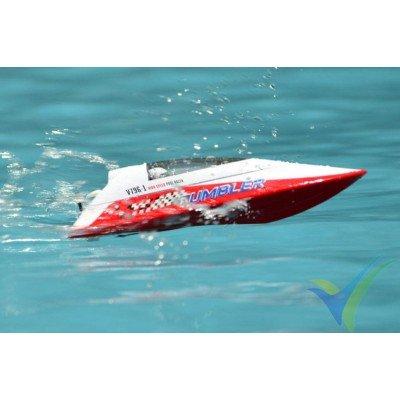 Lancha de carreras Volantex Tumbler RTR - roja, con emisora