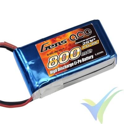 Batería LiPo Gens ace 800mAh (5.92Wh) 2S1P 40C 49.2g JST-SYP