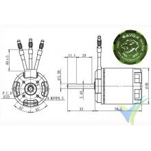 Motor brushless Savox BSM4760 530KV Pro Spec (700)