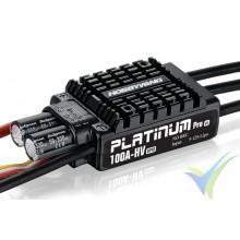 Variador brushless HobbyWing Platinum Pro OPTO HV V3 100A, 5S-12S, sin BEC, 104g