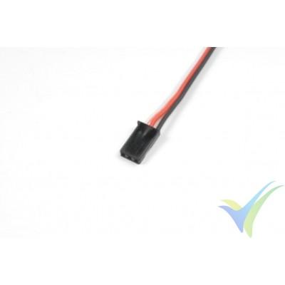 Repuesto de cable de servo Futaba - conector macho - 30cm - 0.33mm2 (22AWG) / 60 venillas