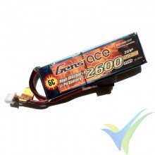 Batería LiPo Gens ace 2600mAh (28.86Wh) 3S1P 1C 147g TX Futaba