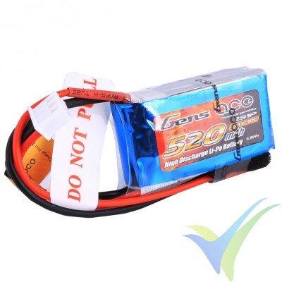 Batería LiPo Gens ace 520mAh (3.85Wh) 2S1P 30C 30g JST-SYP