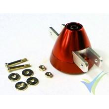 Cono aluminio 30mm ventilado EMP para hélice bipala plegable, eje motor 2.3mm