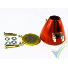 Aluminum spinner 35mm ventilado EMP for two blades folding prop, 2mm motor shaft