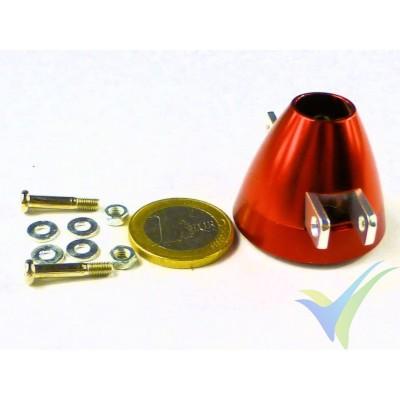 Cono aluminio 35mm ventilado EMP para hélice bipala plegable, eje motor 2mm