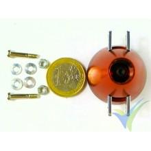 Cono aluminio 35mm ventilado EMP para hélice bipala plegable, eje motor 2.3mm