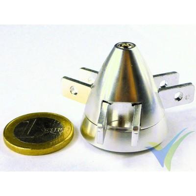 Cono aluminio 30mm EMP para hélice tripala plegable, eje motor 2mm