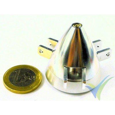 Cono aluminio 35mm EMP para hélice tripala plegable, eje motor 2.3mm