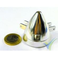 Cono aluminio 40mm EMP para hélice tripala plegable, eje motor 5mm