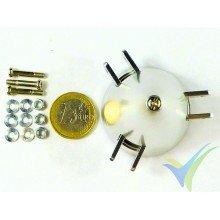 Cono aluminio 45mm EMP para hélice tripala plegable, eje motor 3mm