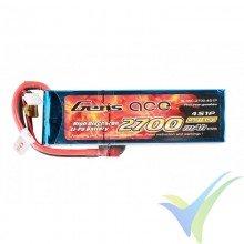 Batería LiPo Gens ace 2700mAh (39.96Wh) 4S1P 35C 311g Deans