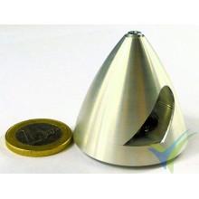 Cono aluminio precisión Protech RC 40mm para hélice bipala, eje motor 4mm, 20.5g