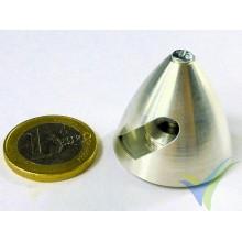 Cono aluminio precisión Protech RC 30mm para hélice bipala, eje motor 3.2mm, 9.7g