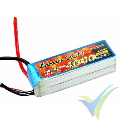 Batería LiPo Gens ace 4000mAh (59.20Wh) 4S1P 60C 474g EC5