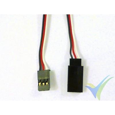 Futaba servo cable extender - 90cm - 0.13mm2 (26AWG)