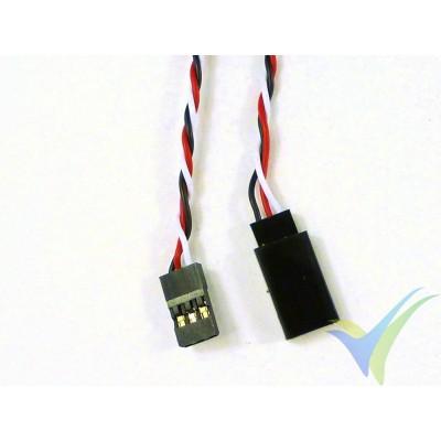 Prolongador trenzado cable de servo universal - 100cm - 0.13mm2 (26AWG)