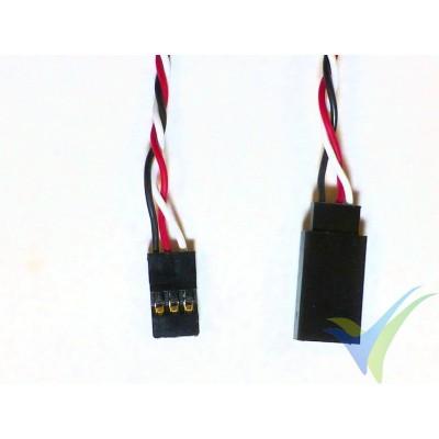 Prolongador trenzado cable de servo universal - 60cm - 0.13mm2 (26AWG)
