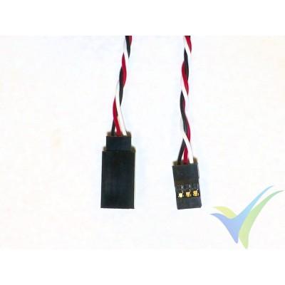 Prolongador trenzado cable de servo universal - 80cm - 0.13mm2 (26AWG)