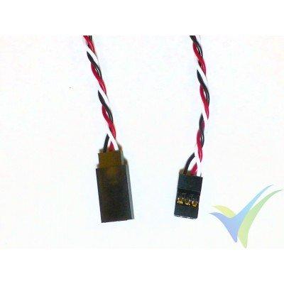 Prolongador trenzado cable de servo universal - 20cm - 0.13mm2 (26AWG)