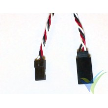 Universal servo twisted cable extender - 10cm - 0.13mm2 (26AWG)