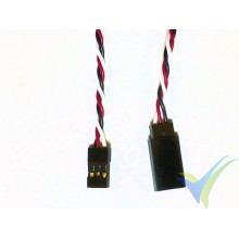 Universal servo twisted cable extender - 15cm - 0.13mm2 (26AWG)