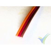 1m Cable de servo JR, marrón-rojo-naranja, 0.13mm2 (26AWG), 30x0.068 venillas