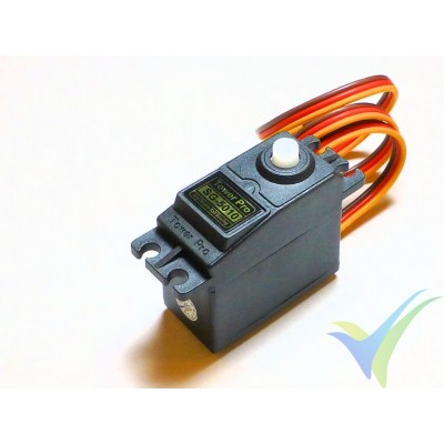 Servo digital TowerPro SG5010, 47g, 6.5Kg.cm, 0.15s/60º, 4.8V-6V