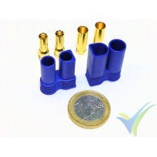 EC5 connector 5mm, gold plated, male and female, 11g
