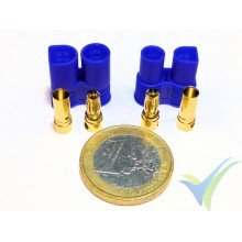 Conector EC3 3.5mm, metalizado oro, macho y hembra, 3.8g