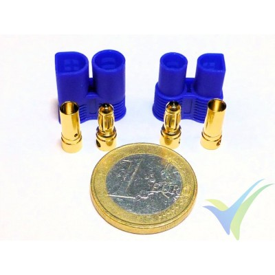 EC3 connector 3.5mm, gold plated, male and female