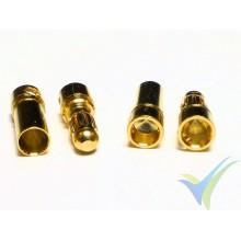 Conector EC3 3.5mm, metalizado oro, macho y hembra