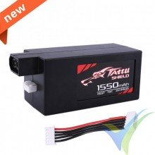 Tattu - Gens ace LiPo Battery 1550mAh (22.94Wh) 4S1P 75C Racing 194.5g Hardcase XT60