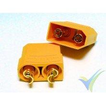 Conector XT90, metalizado oro, macho y hembra, 13.2g