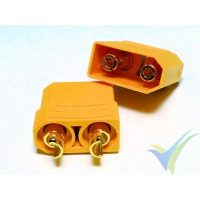 Conector XT90, metalizado oro, macho y hembra