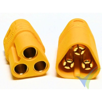 MT60 connector, gold plated, male and female