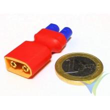 Adaptador de conector EC3 hembra a XT60 macho, 6.6g