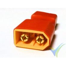 Adaptador de conector XT60 macho a Deans hembra, 6.4g