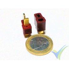 Conector Deans, metalizado oro, macho y hembra, 4.1g