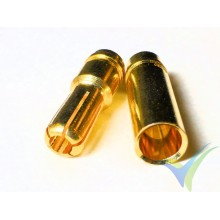 Banana connector 5mm, gold plated, male and female, 4.2g