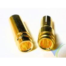 Conector banana 5mm, metalizado oro, macho y hembra, 4.2g