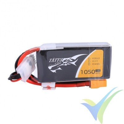 Batería LiPo Tattu - Gens ace 1050mAh (15.54Wh) 4S1P 75C 123g XT60