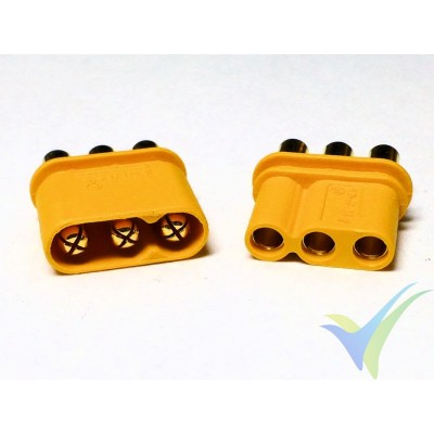 MR30 connector, gold plated, male and female, with insulation cover, 2.4g
