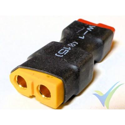 Adaptador de conector XT60 hembra a Deans hembra, 6g