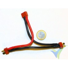 G-Force RC - Power Y-Lead - Serial - Deans - 12AWG Silicone Wire - 12cm - 1 pc, 23.5g