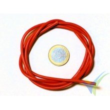 1m red silicone cable 1.31mm2 (16AWG), 252x0.08 strands, 18.7g